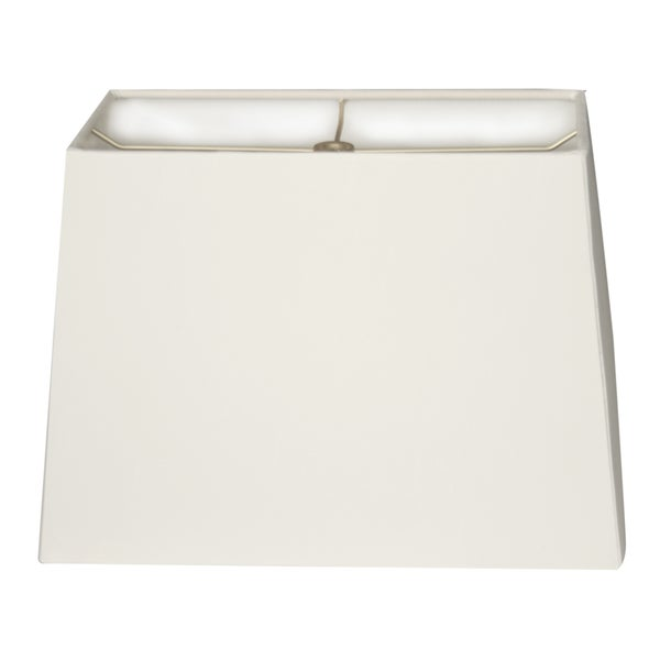 Royal Designs Rectangle Hard Back Lamp Shade, White, (6x12) x (8x14) x 10