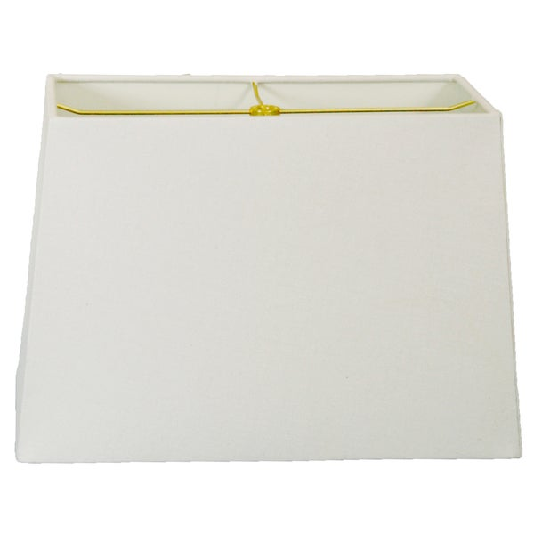 Royal Designs Rectangle Hard Back Lamp Shade, Linen White, (5x10) x (8x12) x 9.5