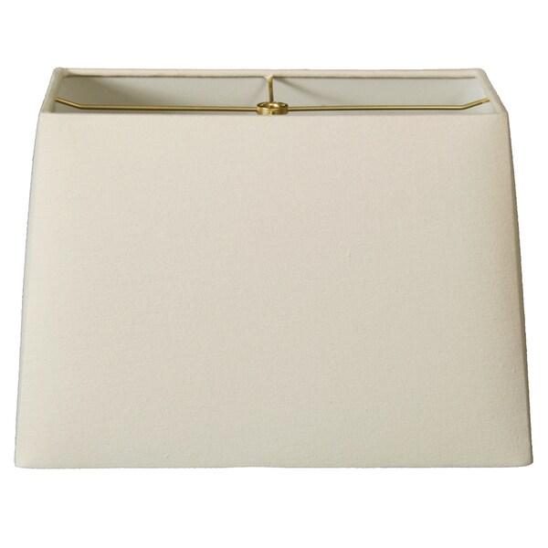 Royal Designs Rectangle Hard Back Lamp Shade, Linen Eggshell, (5x10) x (8x12) x 9.5
