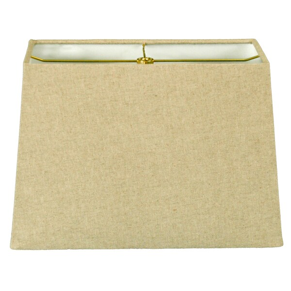 Royal Designs Rectangle Hard Back Lamp Shade, Linen Cream, (5x10) x (8x12) x 9.5