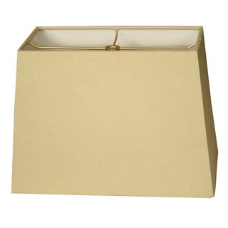 Royal Designs Rectangle Hard Back Lamp Shade, Linen Beige, (5x10) x (8x12) x 9.5