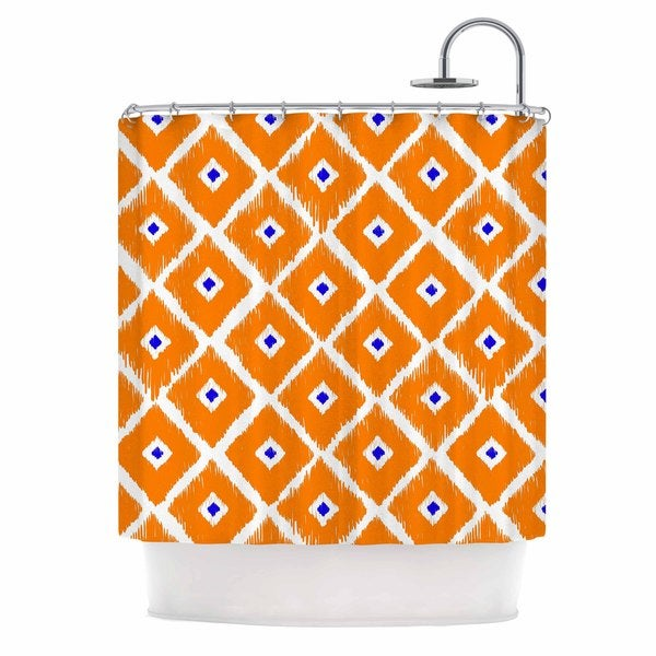 orange and navy shower curtain. KESS InHouse Nick Atkinson The Lucky One Orange Navy Shower Curtain  69x70
