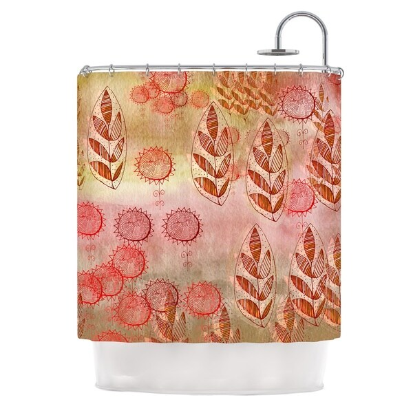 KESS InHouse Marianna Tankelevich Summer Music Red Orange Shower Curtain (69x70)