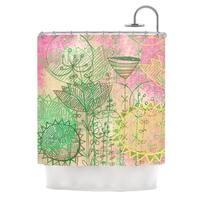 KESS InHouse Marianna Tankelevich Pink Dream Pink Green Shower Curtain (69x70)