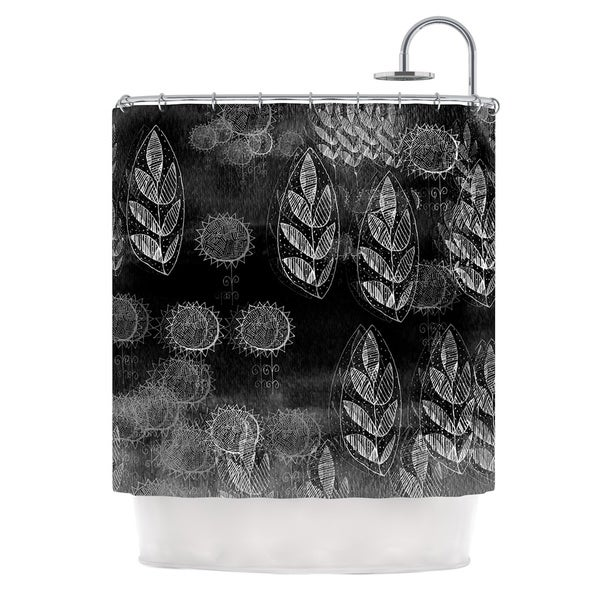 KESS InHouse Marianna Tankelevich Grey Dream Black Gray Shower Curtain (69x70)