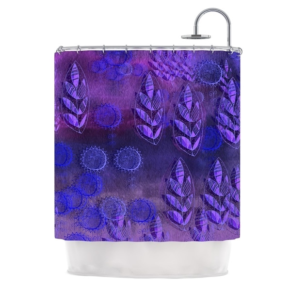 KESS InHouse Marianna Tankelevich Summer Night Purple Lavender Shower Curtain (69x70)