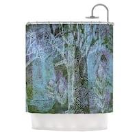 KESS InHouse Marianna Tankelevich Wild Forest Blue Trees Shower Curtain (69x70)