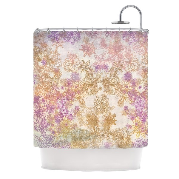 KESS InHouse Marianna Tankelevich Retro Summer Yellow Pink Shower Curtain (69x70)