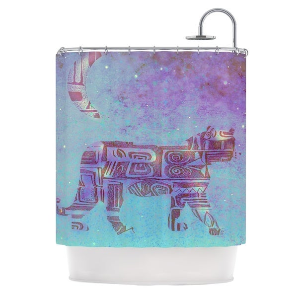 KESS InHouse Marianna Tankelevich Panther at Night Purple Blue Shower Curtain (69x70)