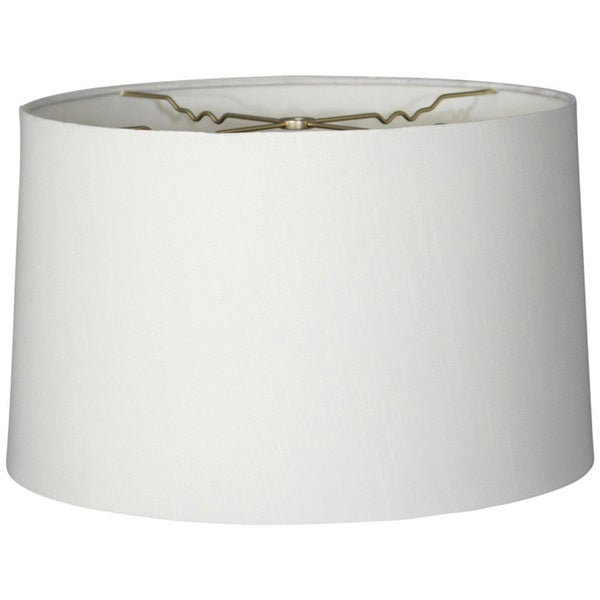 Royal Designs Shallow Drum Hardback Lamp Shade White 17 X 18 11 5 On Free Shipping Today 15103741