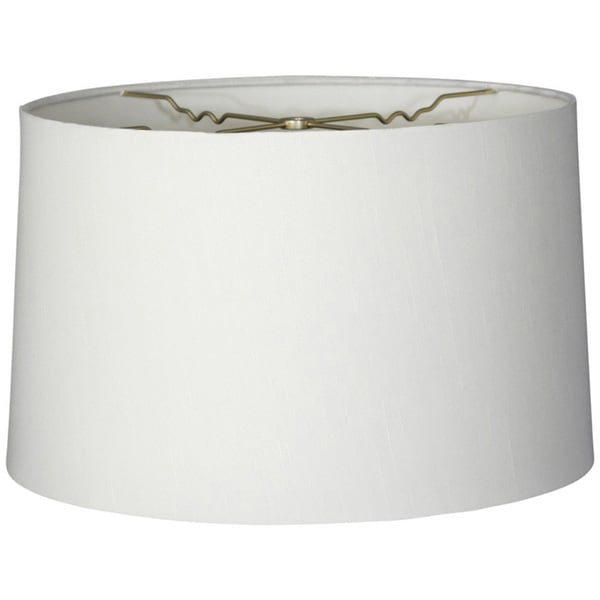 Royal Designs Shallow Drum Hardback Lamp Shade, White, 17 x 18 x 11.5