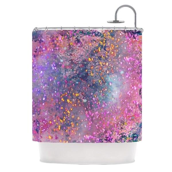 KESS InHouse Marianna Tankelevich Pink Universe Pink Purple Shower Curtain (69x70)