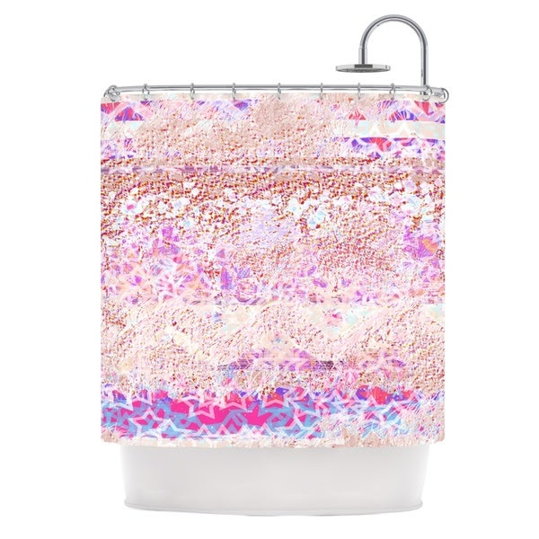 KESS InHouse Marianna Tankelevich Broken Pattern Pink Purple Shower Curtain (69x70)