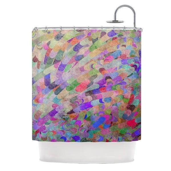 KESS InHouse Marianna Tankelevich Abstract Rainbow Shower Curtain (69x70)