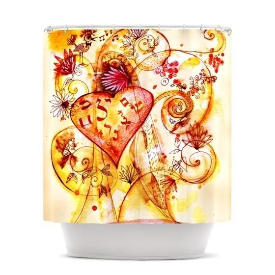 KESS InHouse Marianna Tankelevich Tree of Love Shower Curtain (69x70)