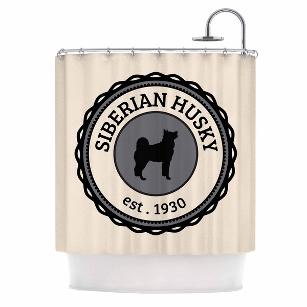 KESS InHouse KESS Original Husky Husky Dog Shower Curtain (69x70)