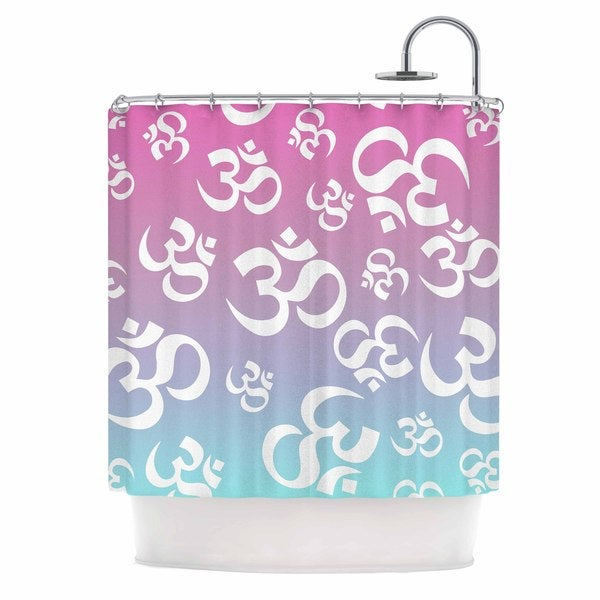 KESS InHouse KESS Original OHM My Pastels Pink Aqua Shower Curtain (69x70)