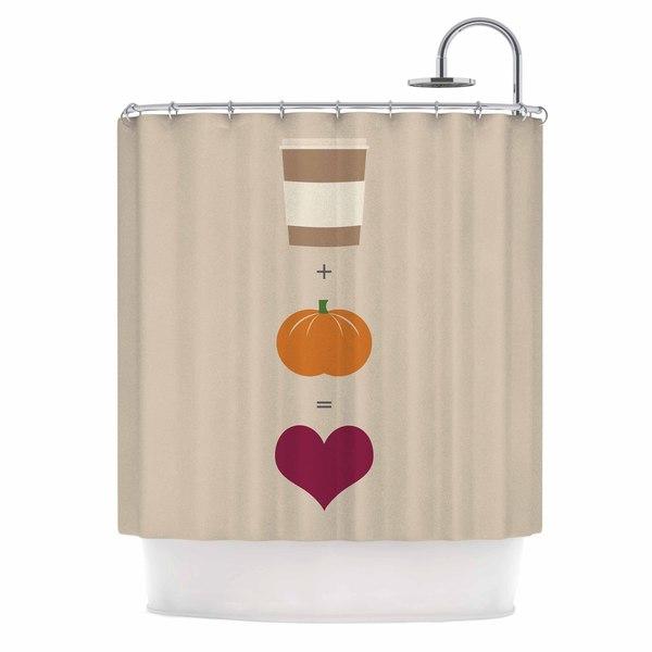 KESS InHouse KESS Original Pumpkin Spice Latte Tan Orange Shower Curtain (69x70)