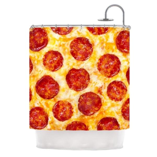KESS InHouse KESS Original Pizza My Heart Pepperoni Cheese Shower Curtain (69x70)