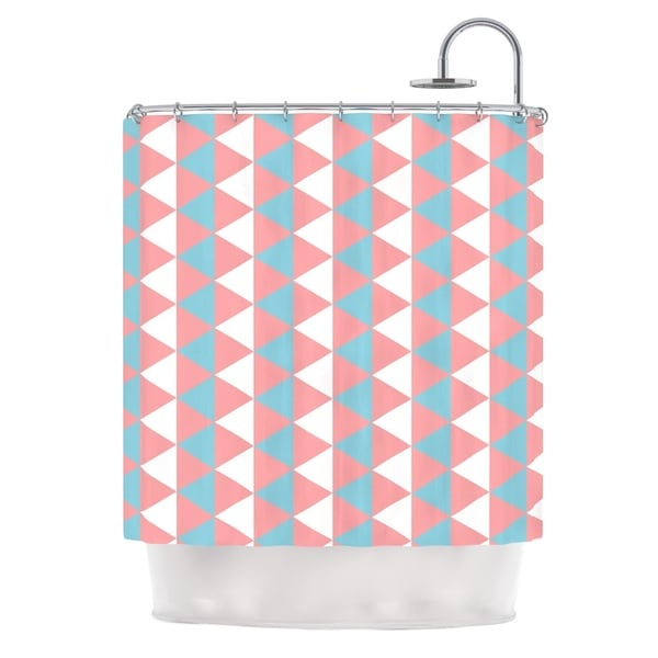 KESS InHouse KESS Original Be Still Blue Pink Shower Curtain (69x70)