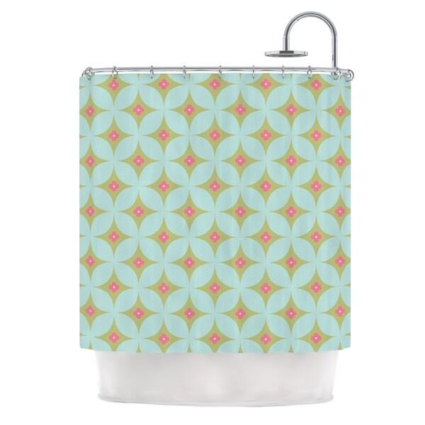 KESS InHouse KESS Original Retro Aquamarine Teal Green Shower Curtain (69x70)