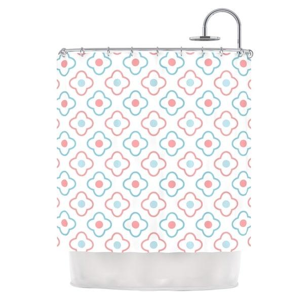 KESS InHouse KESS Original Baby Moroccan Blue Pink Shower Curtain (69x70)