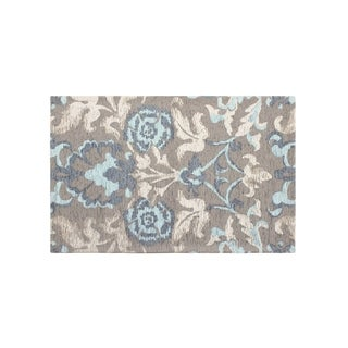 Laura Ashley Penelope Duck Egg Blue Jacquard Chenille Textured Accent Rug - (24 x 35 in.)