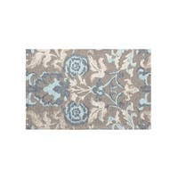 Laura Ashley Penelope Duck Egg Blue Jacquard Chenille Textured Accent Rug - 2' x 3'