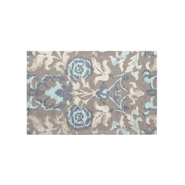 Laura Ashley Penelope Duck Egg Blue Jacquard Chenille Textured Accent Rug - (27 x 45 in.)