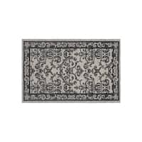 Laura Ashley Halstead Border Gray Jacquard Chenille Textured Accent Rug - (27 x 45 in.)