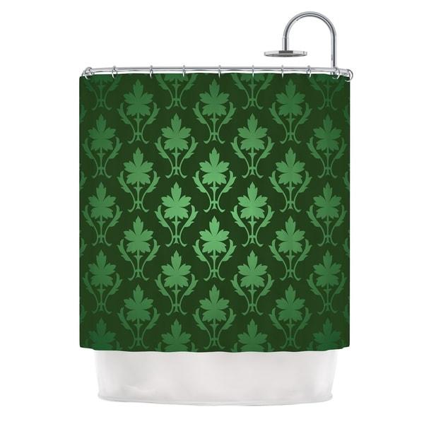 KESS InHouse KESS Original Emerald Damask Green Pattern Shower Curtain (69x70)