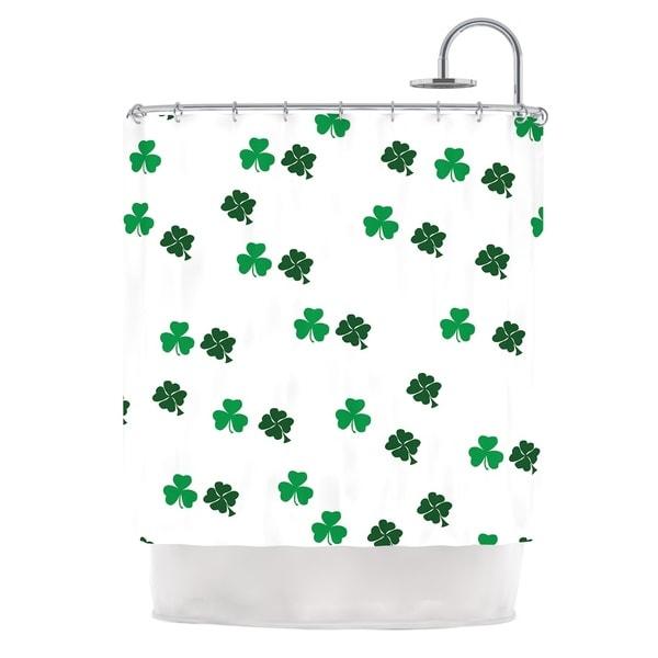 KESS InHouse KESS Original Shamrockin St. Patrick Shower Curtain (69x70)