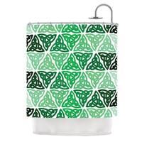 KESS InHouse KESS Original Celtic Knot Green Forest Mint Shower Curtain (69x70)