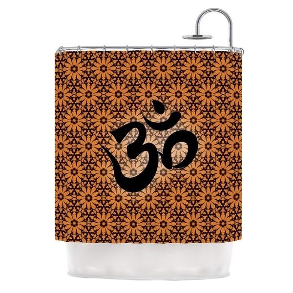 KESS InHouse KESS Original Om Orange Black Orange Shower Curtain (69x70)