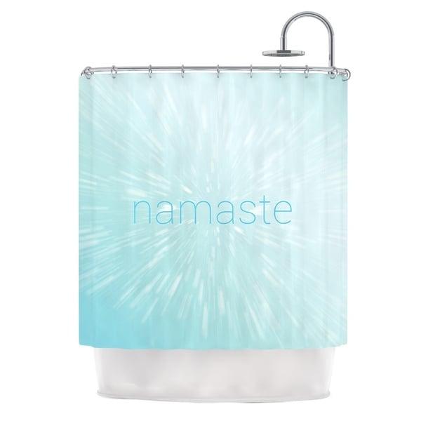 KESS InHouse KESS Original Namaste Blue Shower Curtain (69x70)