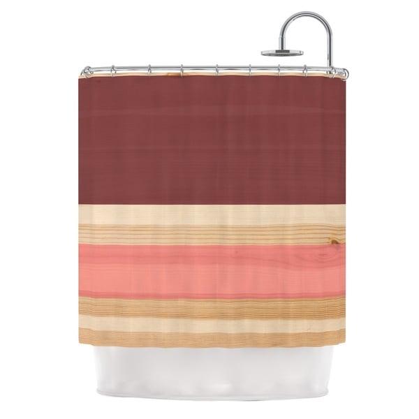 KESS InHouse KESS Original Spring Swatch - Marsala Strawberry Red Pink Shower Curtain (69x70)