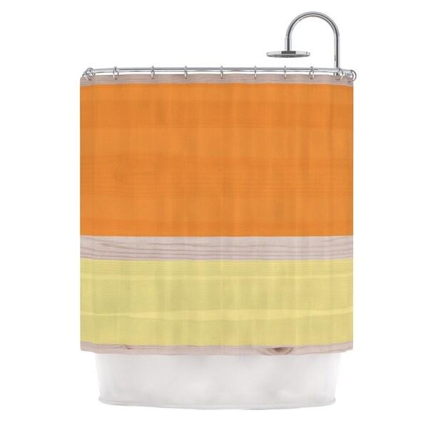 KESS InHouse KESS Original Spring Swatch - Tangerine Custard Orange Yellow Shower Curtain (69x70)
