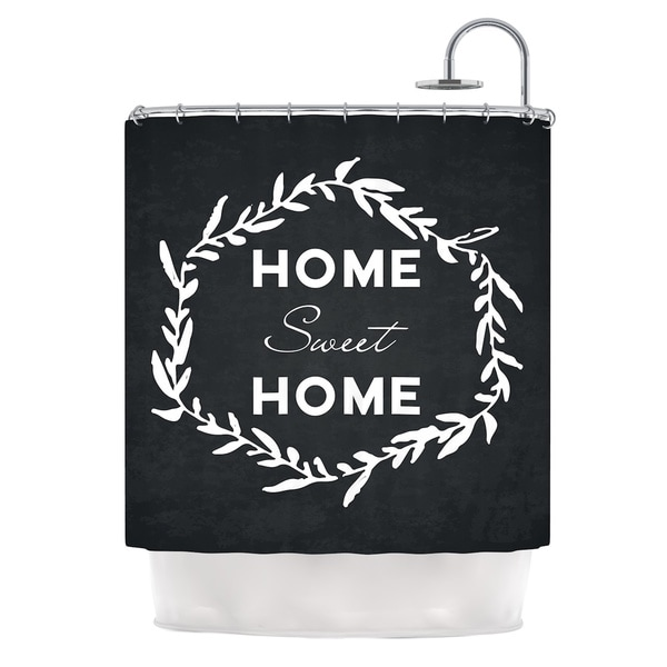 KESS InHouse KESS Original Home Sweet Home Black White Shower Curtain (69x70)