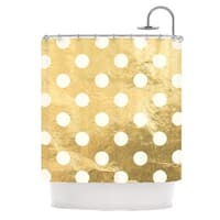KESS InHouse KESS Original Scattered White Metallic Shower Curtain (69x70)