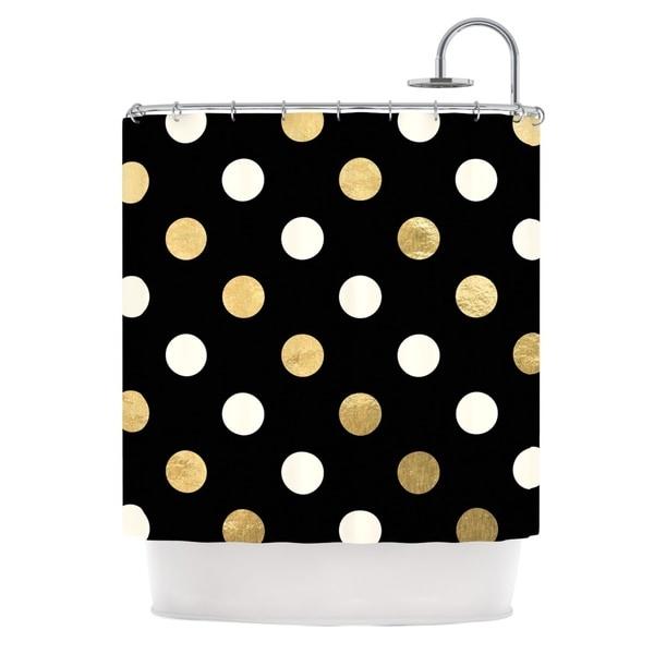 KESS InHouse KESS Original Golden Dots Metallic Shower Curtain (69x70)