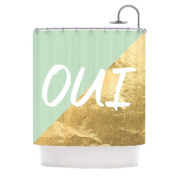 KESS InHouse KESS Original Oui Gold Metallic Shower Curtain (69x70)