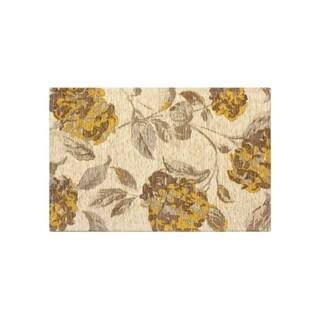 Laura Ashley Hydrangea Chamomile Jacquard Chenille Textured Accent Rug - (24 x 35 in.)