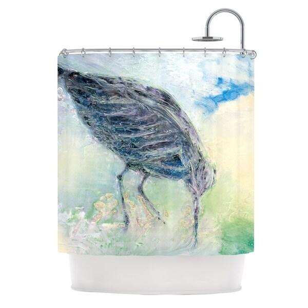 KESS InHouse Josh Serafin Feast Green Yellow Shower Curtain (69x70)