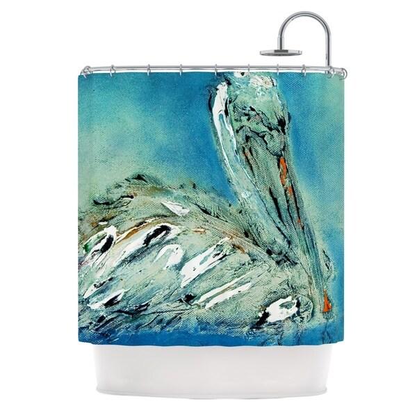 KESS InHouse Josh Serafin Drifter Blue Green Shower Curtain (69x70)