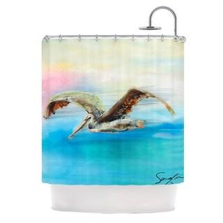 KESS InHouse Josh Serafin Coast Ocean Bird Shower Curtain (69x70)