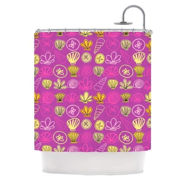KESS InHouse Jane Smith Under the Sea Mermaid Pink Gold Shower Curtain (69x70)