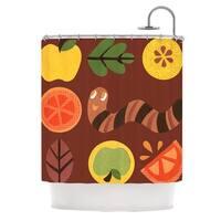 KESS InHouse Jane Smith Autumn Repeat Brown Bugs Shower Curtain (69x70)