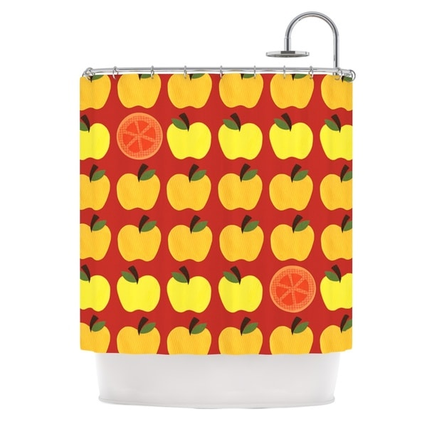 KESS InHouse Jane Smith Seasons Autumn Orange Red Shower Curtain (69x70)