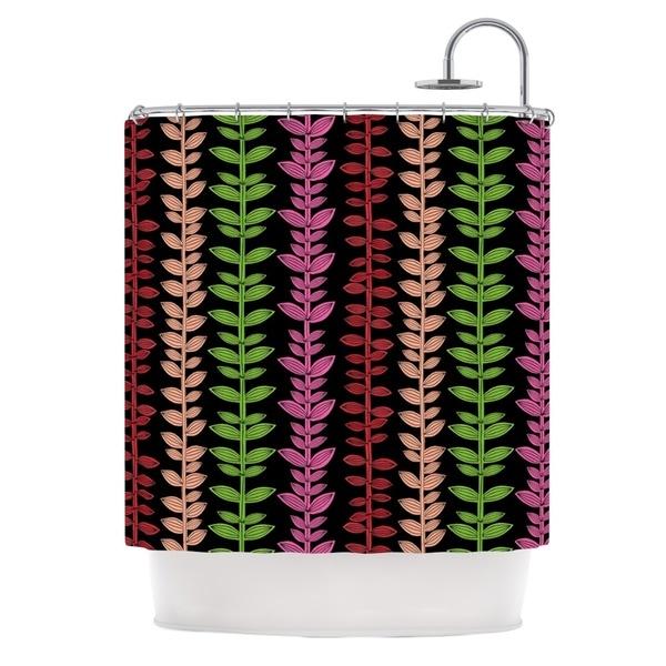 KESS InHouse Jane Smith Garden Vine and Leaf Rainbow Vines Shower Curtain (69x70)