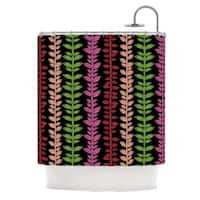 KESS InHouse Jane Smith Garden Vine and Leaf Rainbow Vines Shower Curtain (69x70)